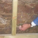Anode ready for inserting into wall