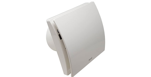 Kair Smart 100mm extractor fan for bathrooms, kitchens and utility rooms.