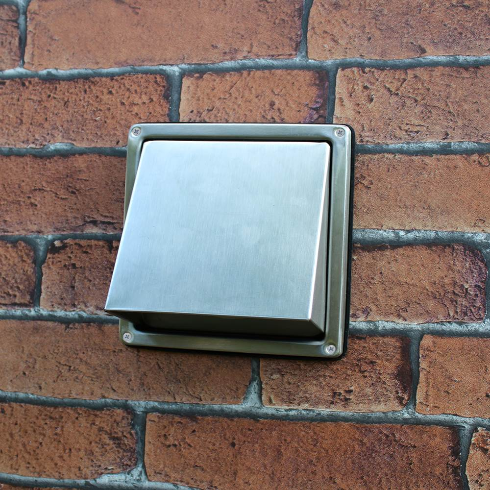 Ducss103 100mm Cowled Outlet With Non Return Flap