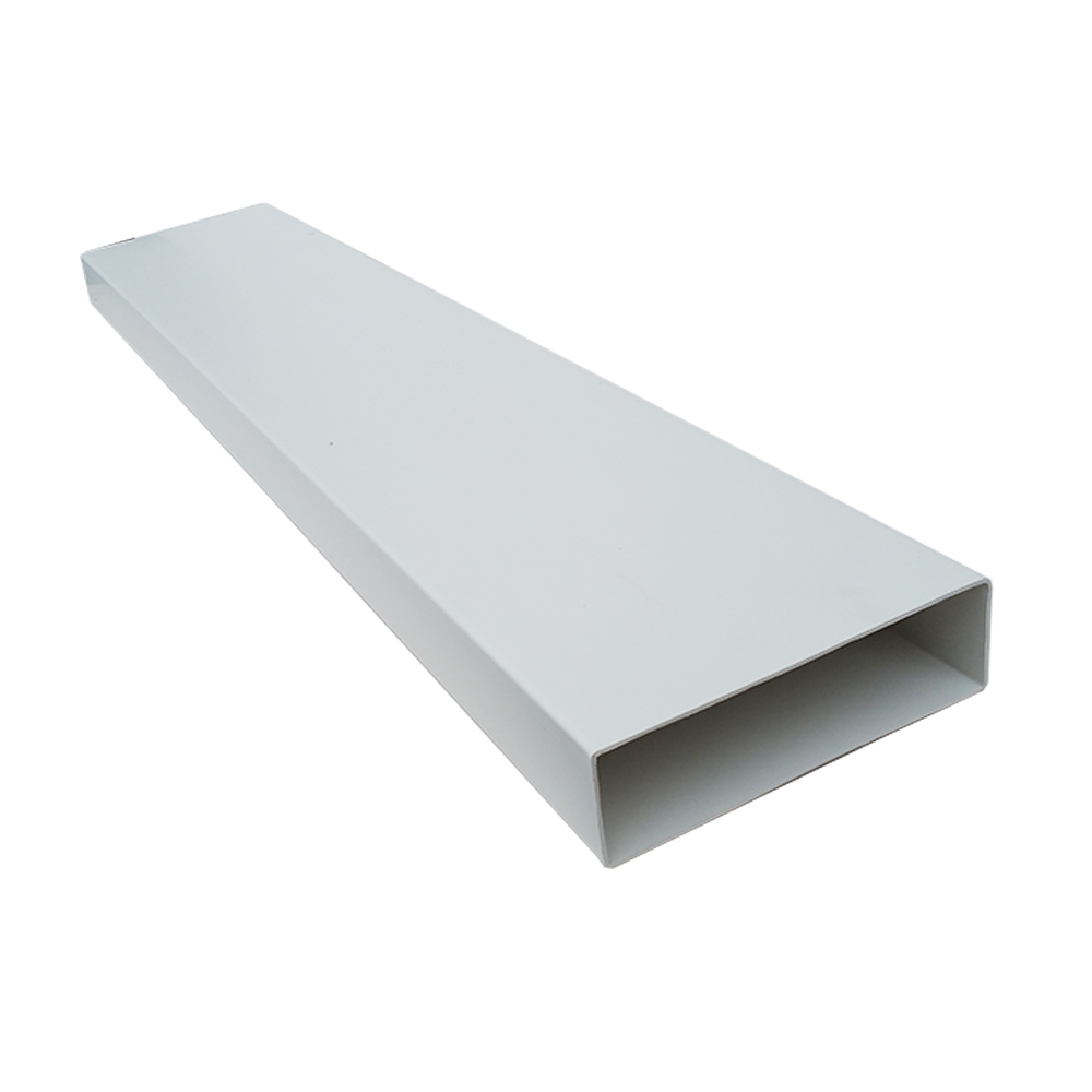 Kair System 204 Rectangular 204x60mm - 2mtr Flat Channel - Plastic Ducting