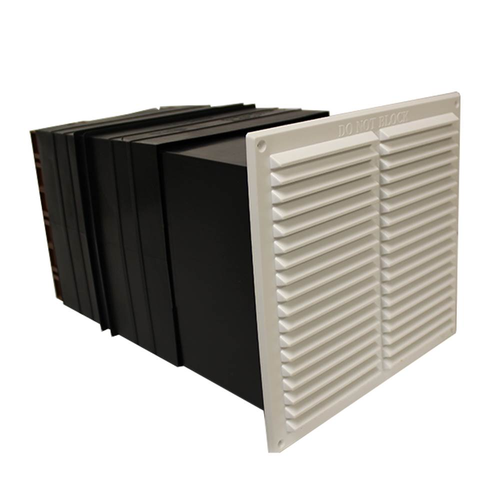 9X9 VENT SET WITH FLUSH LOUVRE - BROWN-LIGHT+DRAFT RED