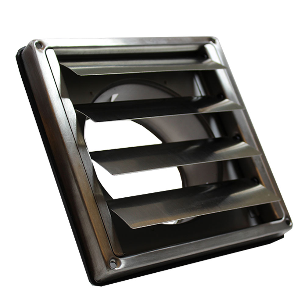 Stainless Steel Duct Grille : Ducss mm wall outlet with gravity flaps