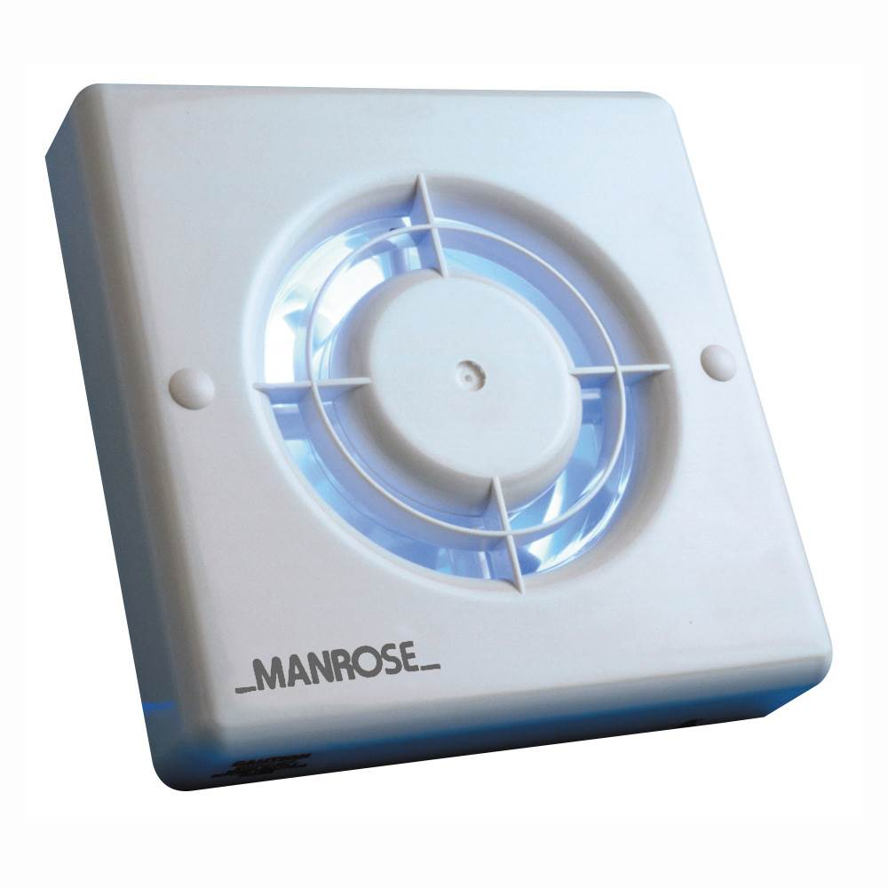 Manrose XF100PIR Wall/Ceiling Fan - PIR Sensor - 100mm