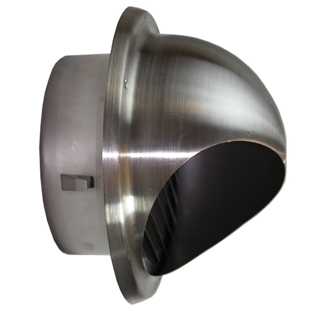 Ducss120 125mm Bull Nose Vent With Louvres Bull Nose