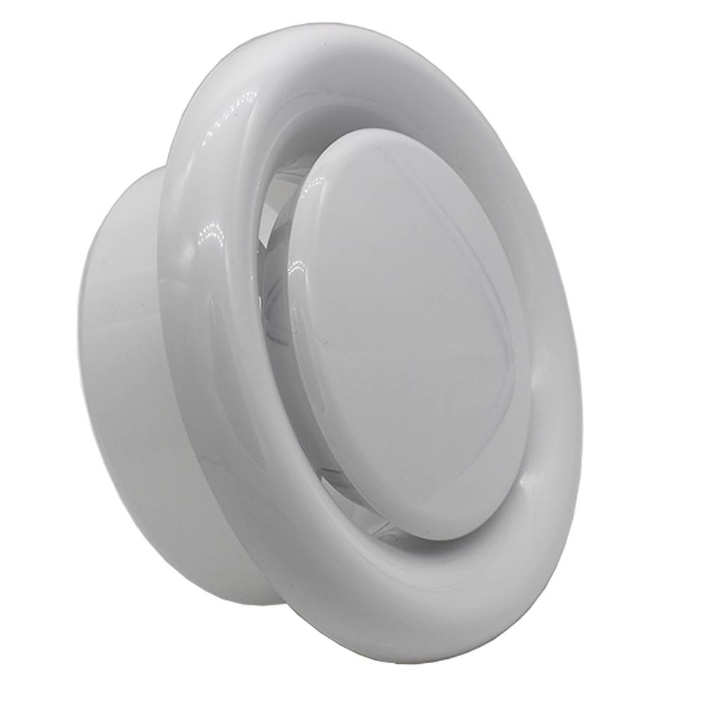 Kair 125mm Ceiling Vent Diffuser With Retaining Ring