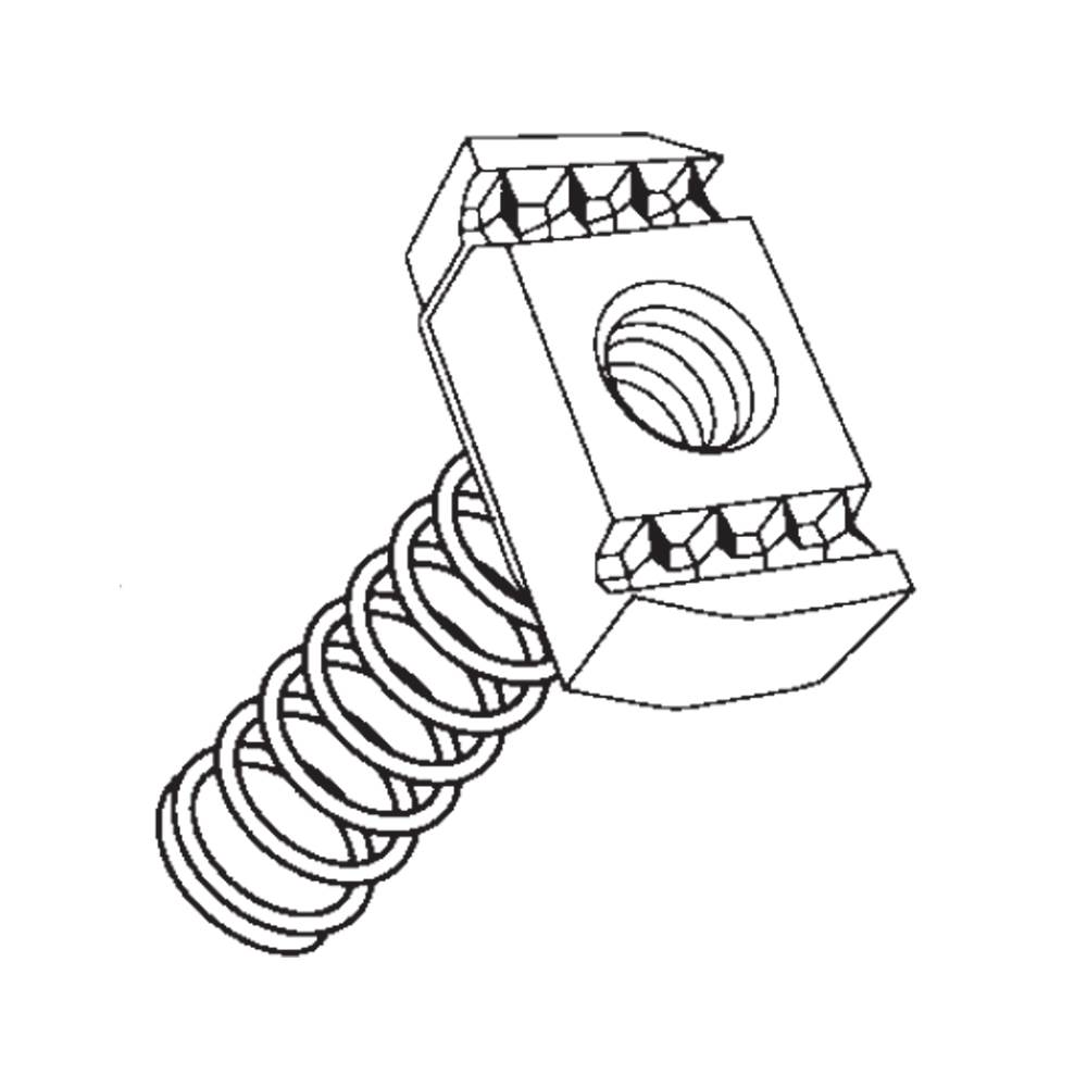 Tssn-L-M8 Long Spring Channel Slide Nut TSSNLM8
