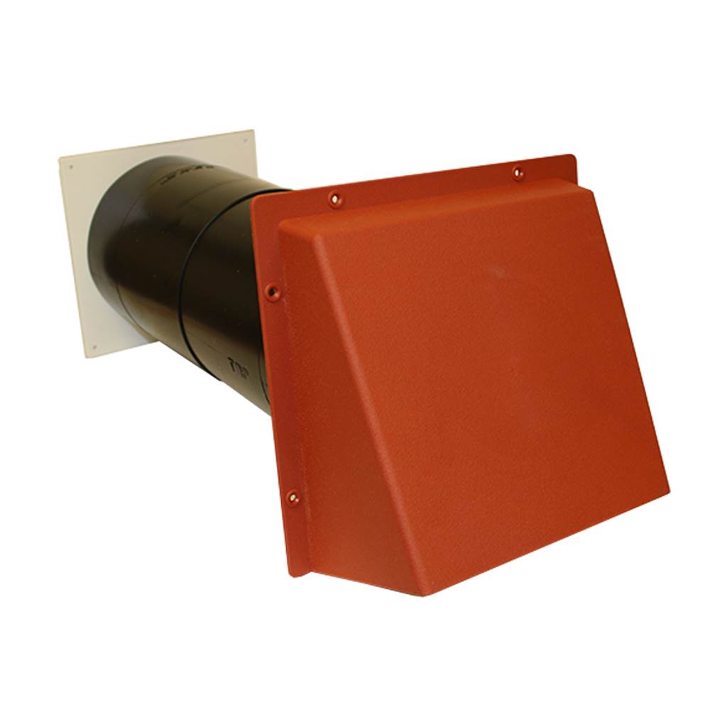 COWLED 150MM AIRCORE W/HIT & MISS-TERRACOTTA-LIGHT+DRAFT RED