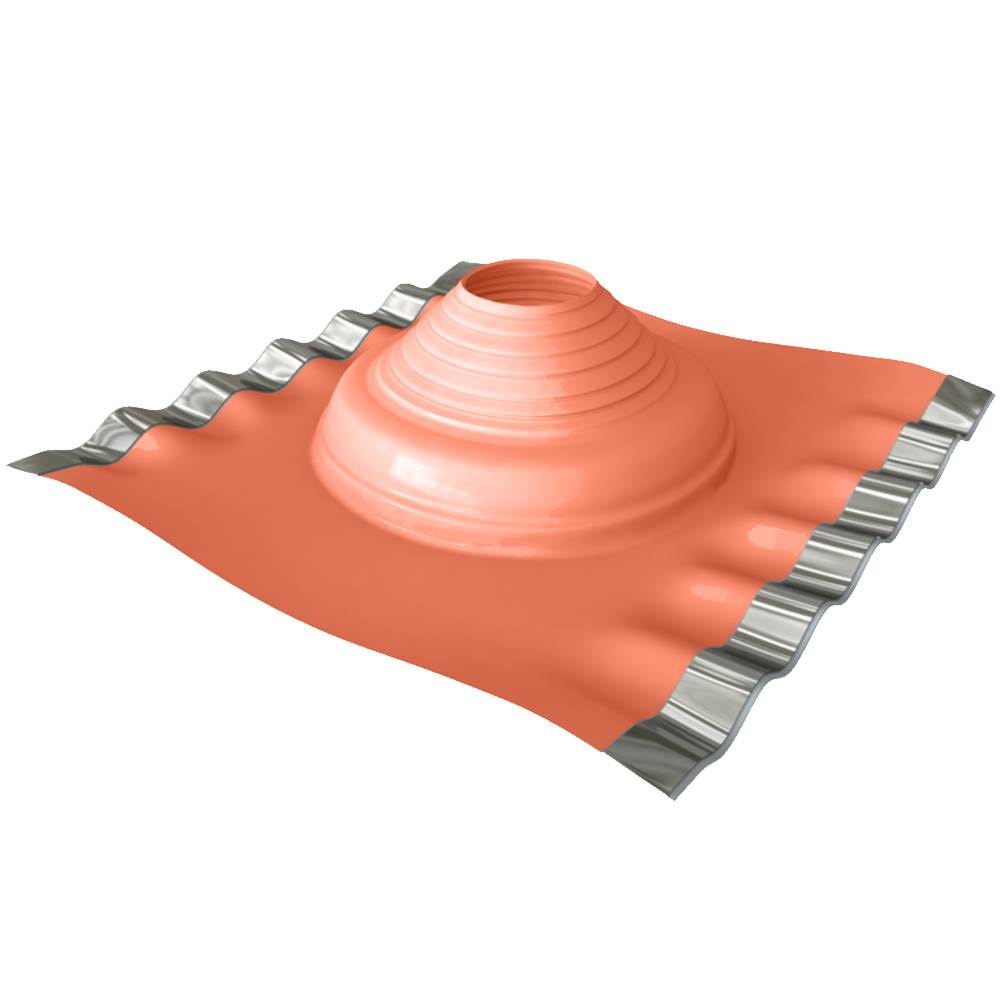 Dektite DF702 Red Silicone Soaker For Pipe Size 75-155mm Base Size 410X360mm