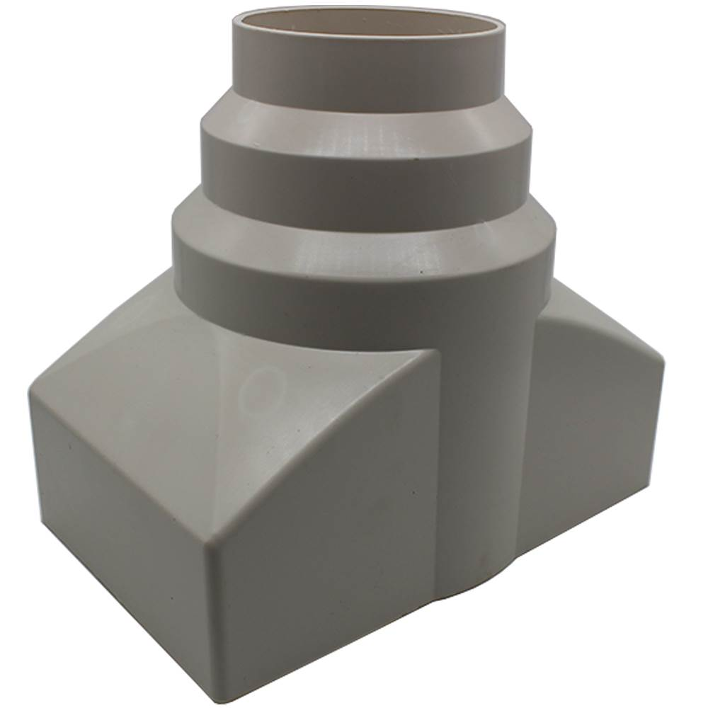 Dom954 Double Airbrick Adapter To Round Pipe Airbrick