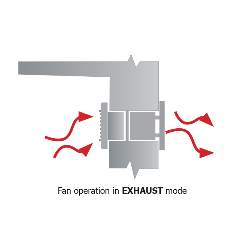 Reversible Axial Fans : Monhvr re mm reversible auto shutter fan m hr