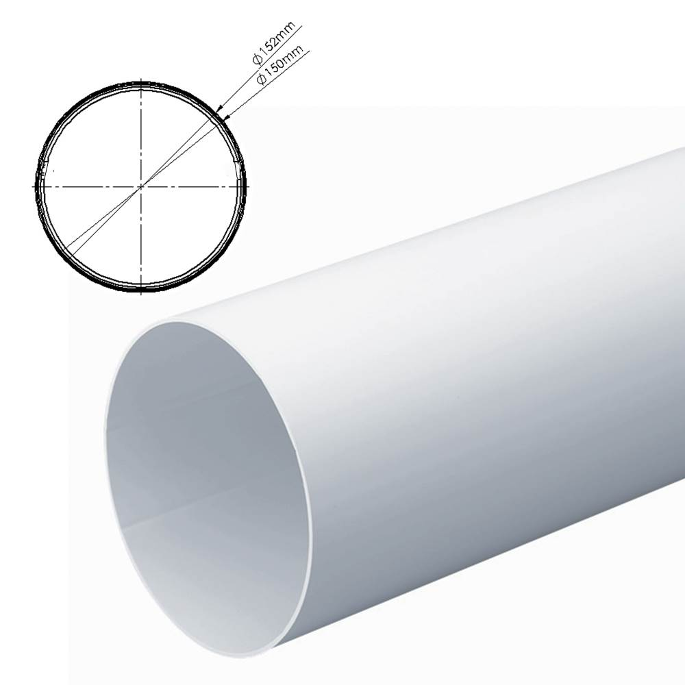 INNER DUCTING SLEEVE FOR 150MM ROUND PIPE 1M