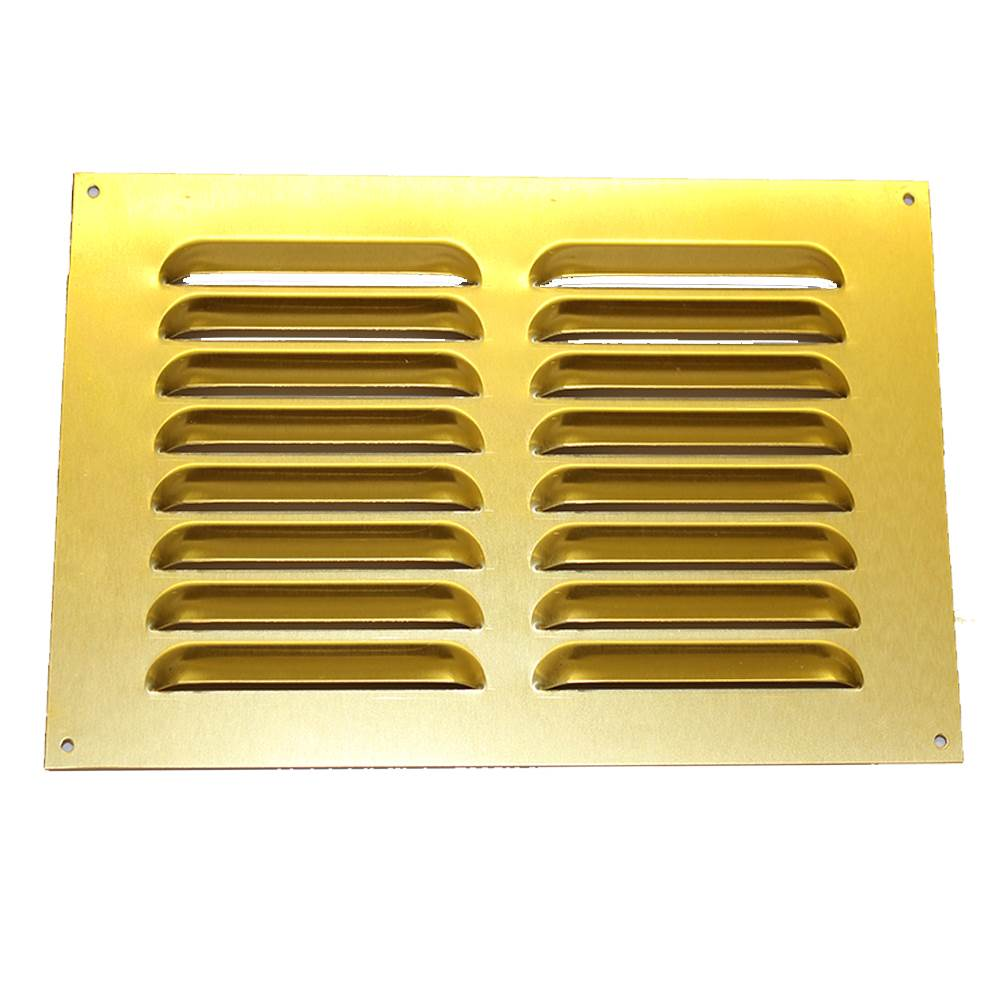 RYTONS 9X6 BRASS ANODISED ALUMINIUM LOUVRE VENT GRILLE