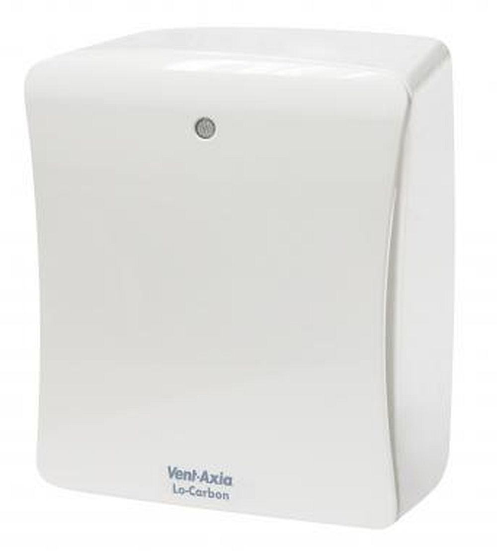 Vent Axia Lo Carbon Solo Plus SELV HT Low Voltage Centrifugal Fan With Humidistat, Timer, Pullcord, And Data Logger