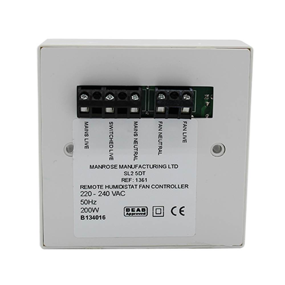 Wiring Diagrams For Extractor Fans With A Timer : Man manrose remote humidistat timer controller