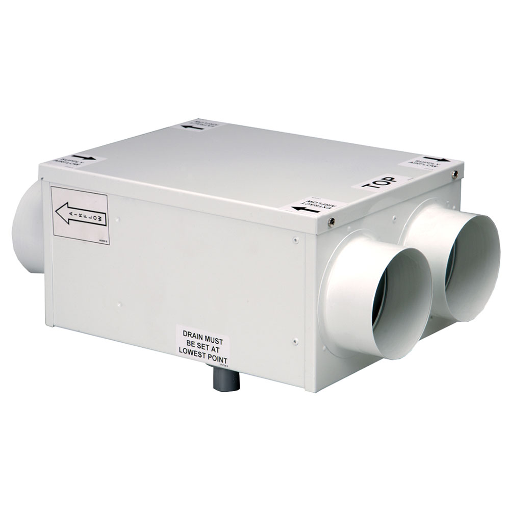 Windsor HR100RS - 100mm Inline Heat Recovery - Bottom Access (Made To Order - 2-3 Week Lead Time)