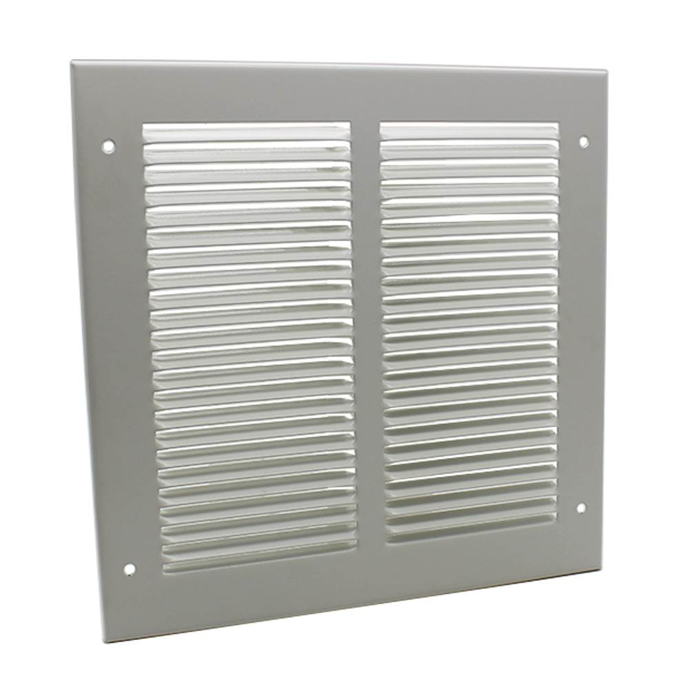 Pressed Steel Grille - 33G - White - 500X500mm