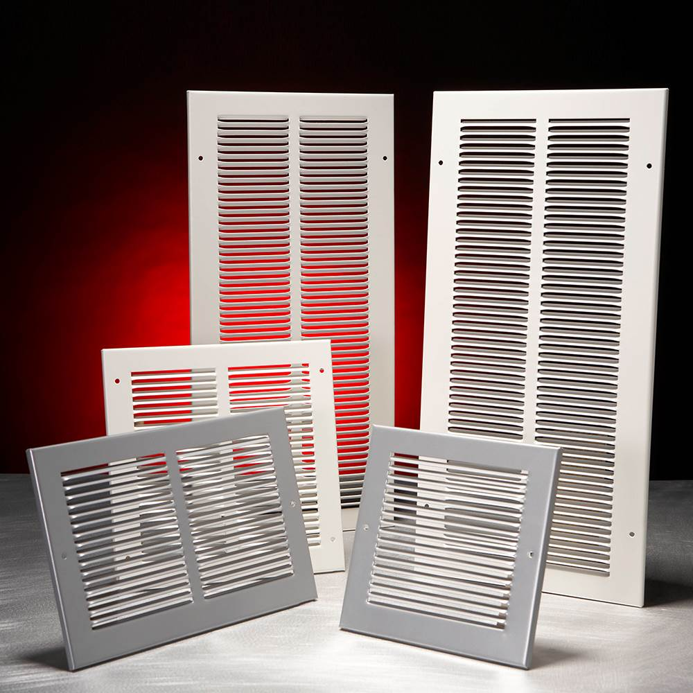 PRESSED STEEL GRILLE - 33G - WHITE - 150X150MM