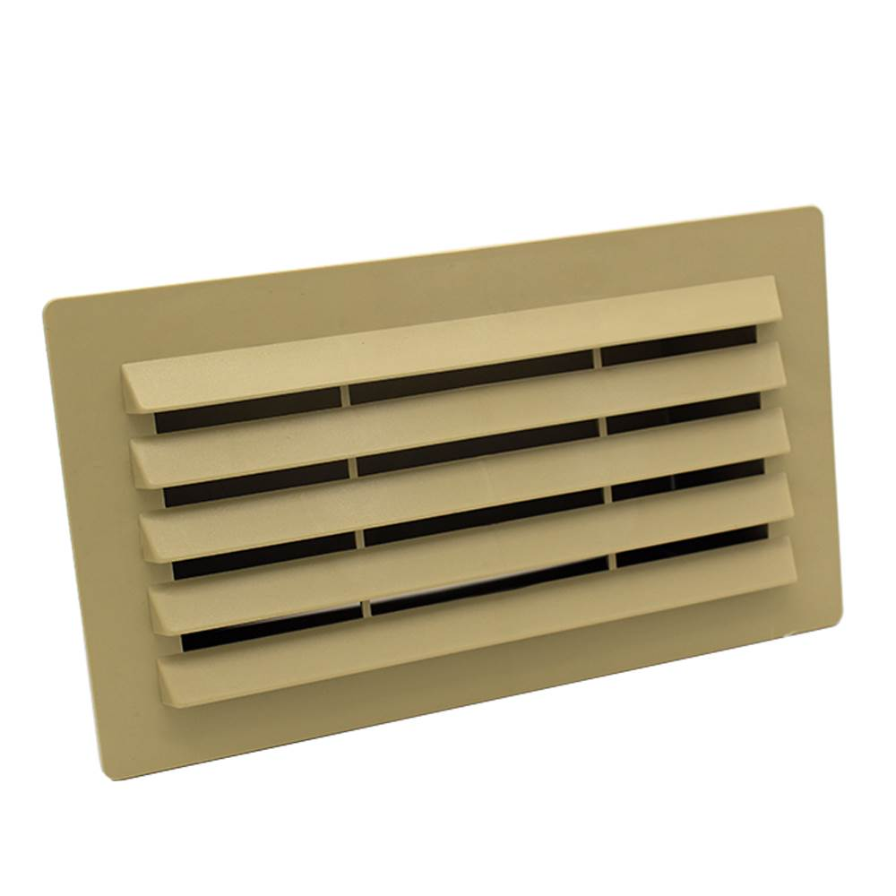 Rectangular Ducting 180mm X 90mm  - Airbrick With Damper - Beige