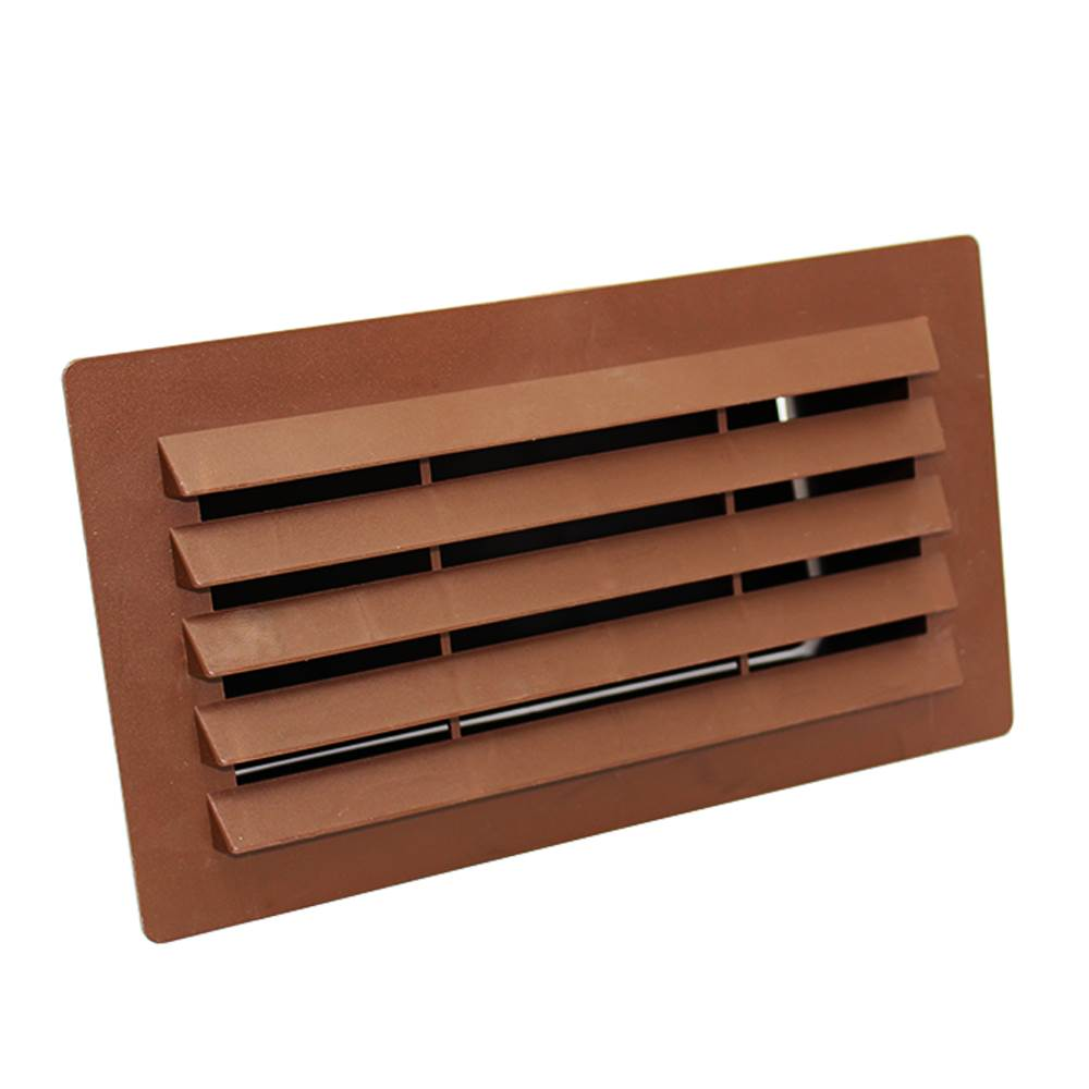 Rectangular Ducting 180mm X 90mm  - Airbrick With Damper - Brown