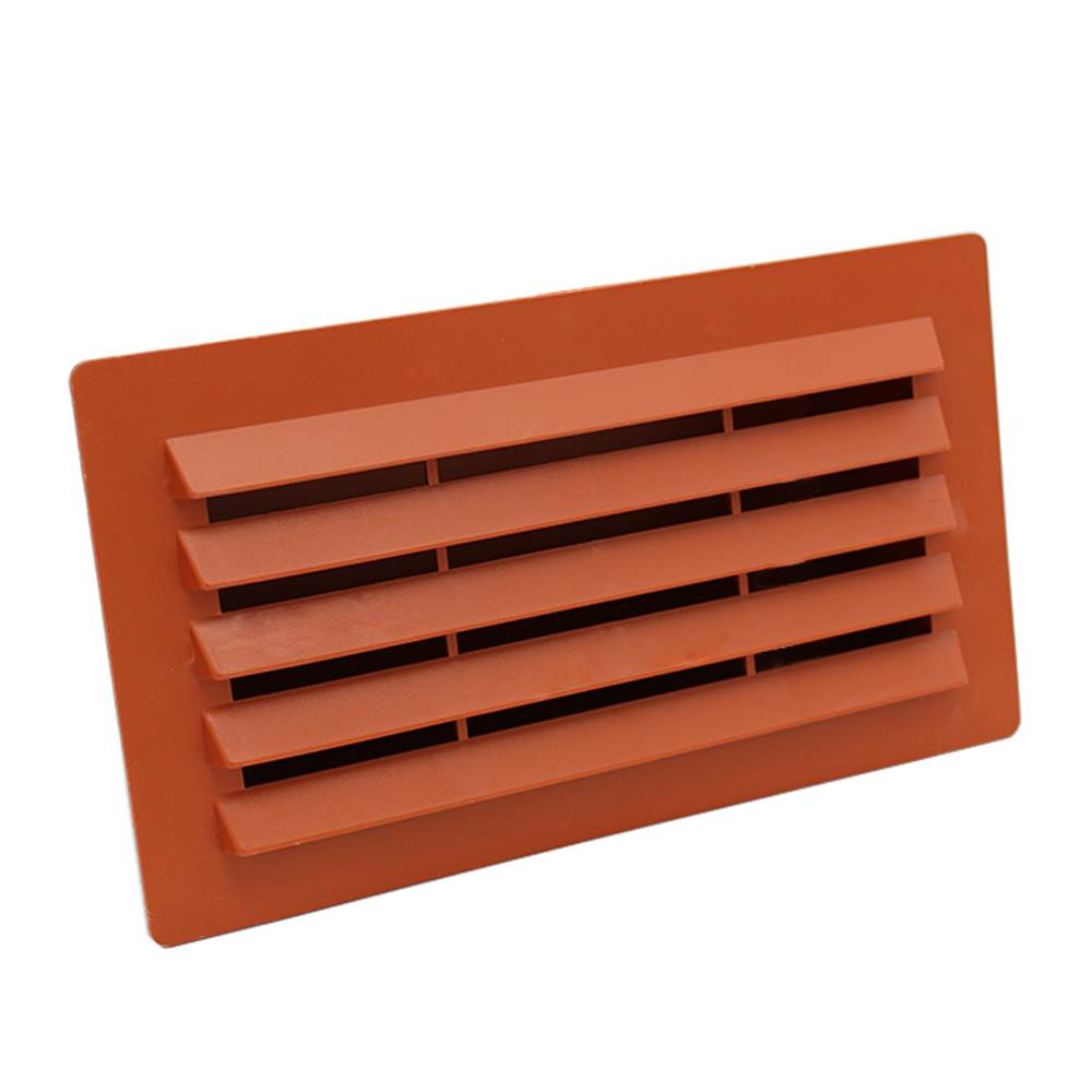Rectangular Ducting 180mm X 90mm  - Airbrick With Damper - Terracotta