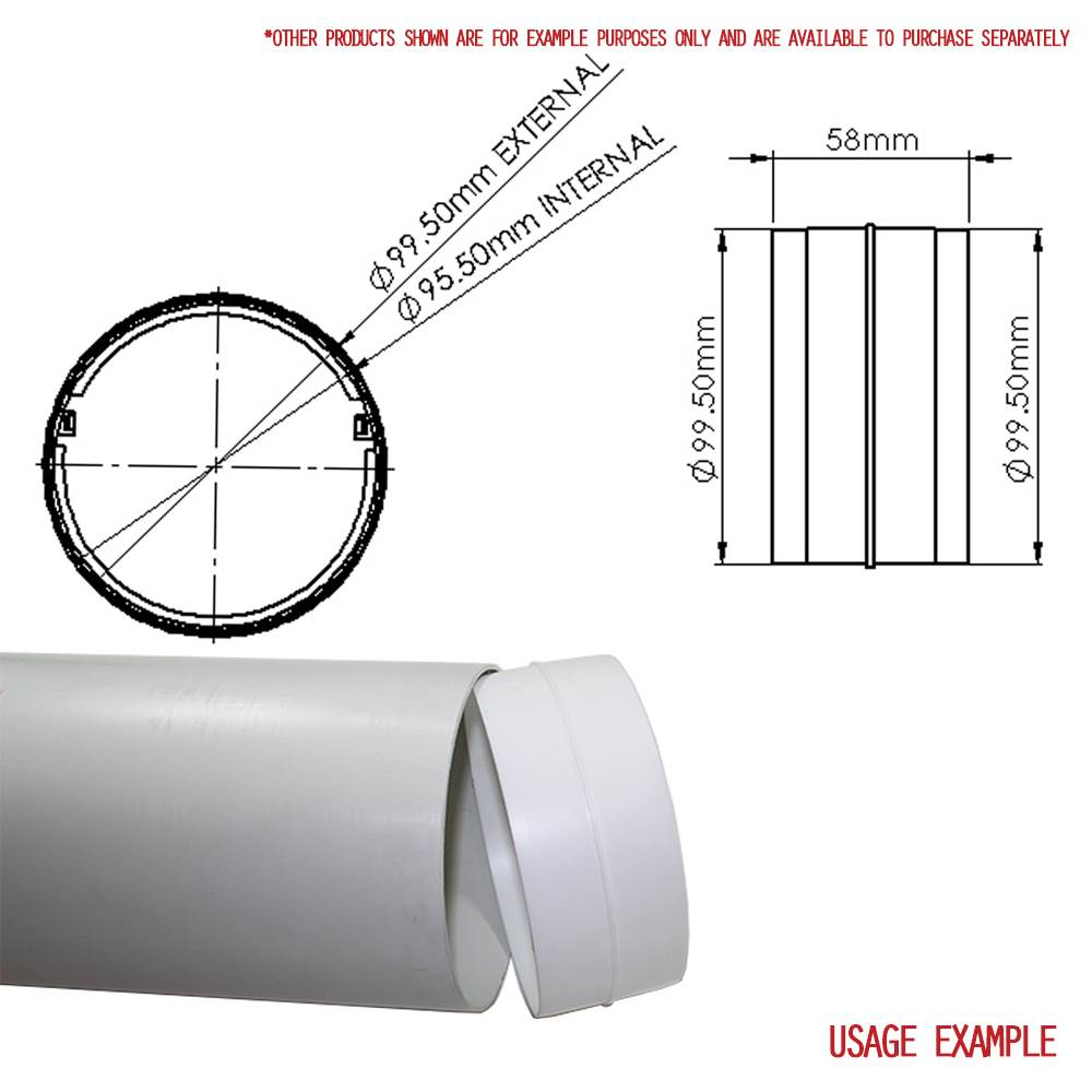 100mm 4 Quot Round Plastic Connector With Damper