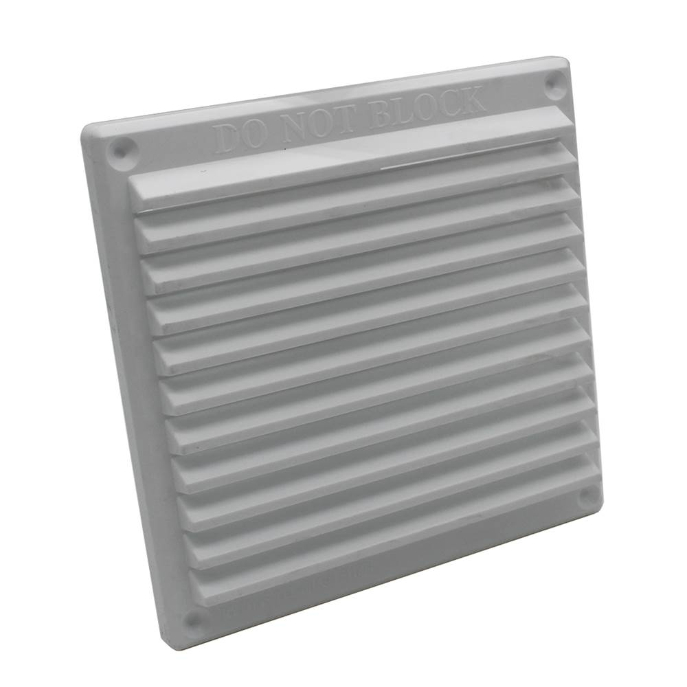 Rytons 6X6 Louvre Ventilation Grille With Flyscreen - White