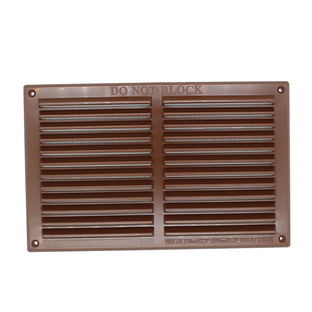 rytlv137fbr rytons 9x6 louvre ventilation grille with flyscreen brown. Black Bedroom Furniture Sets. Home Design Ideas
