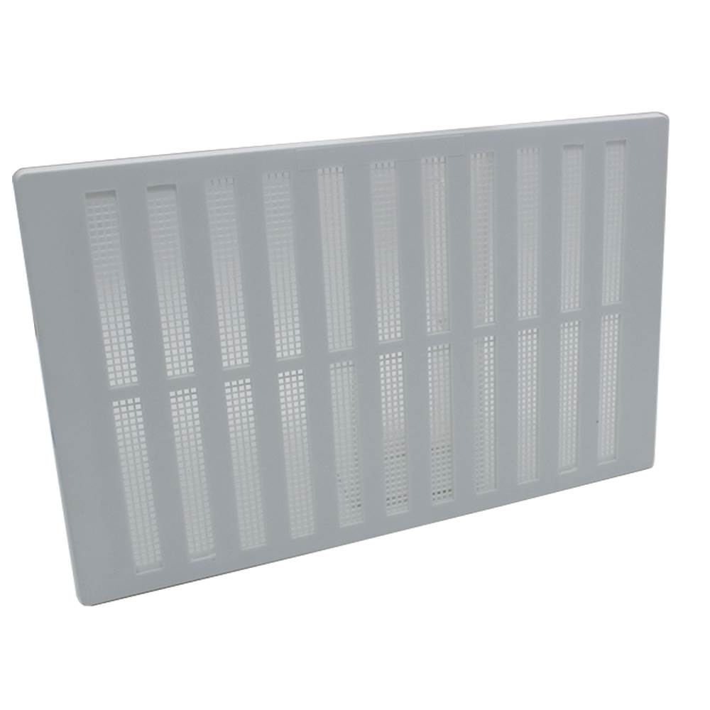 Hit And Miss Vent Cover 9x6 White Plastic Rytons Vents