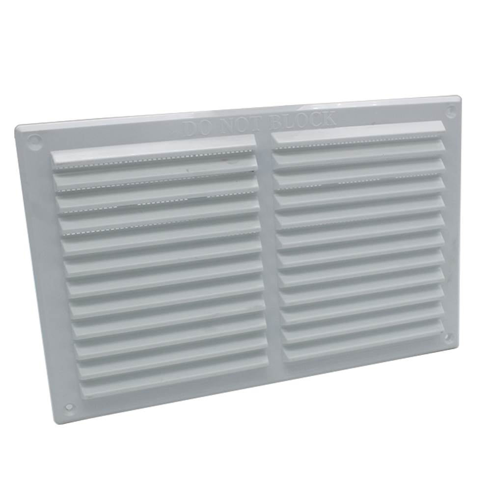 RYTONS 9X6 LOUVRE VENTILATION GRILLE WITH FLYSCREEN - WHITE