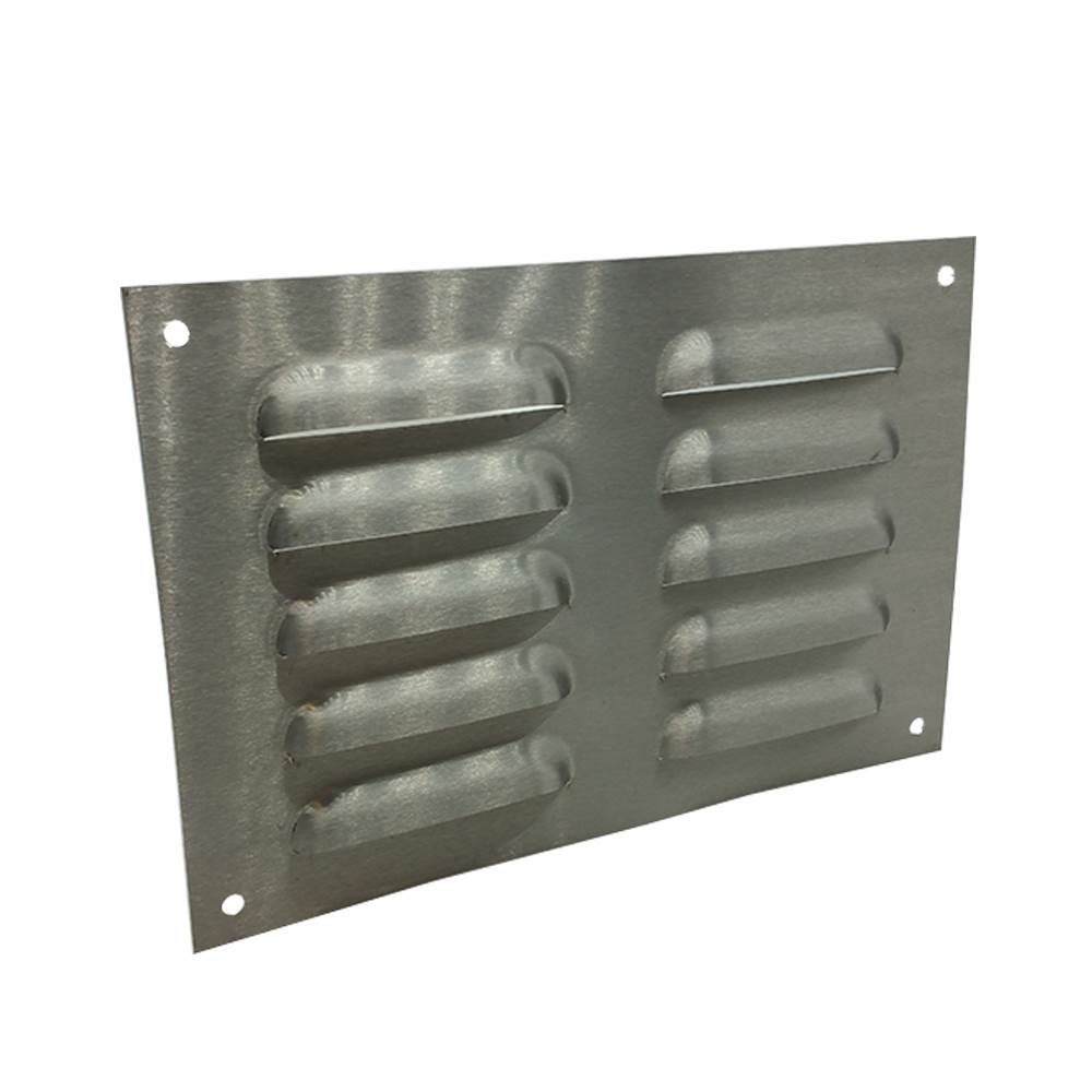 9 X 6 ANODISED LOUVRE VENT - SILVER