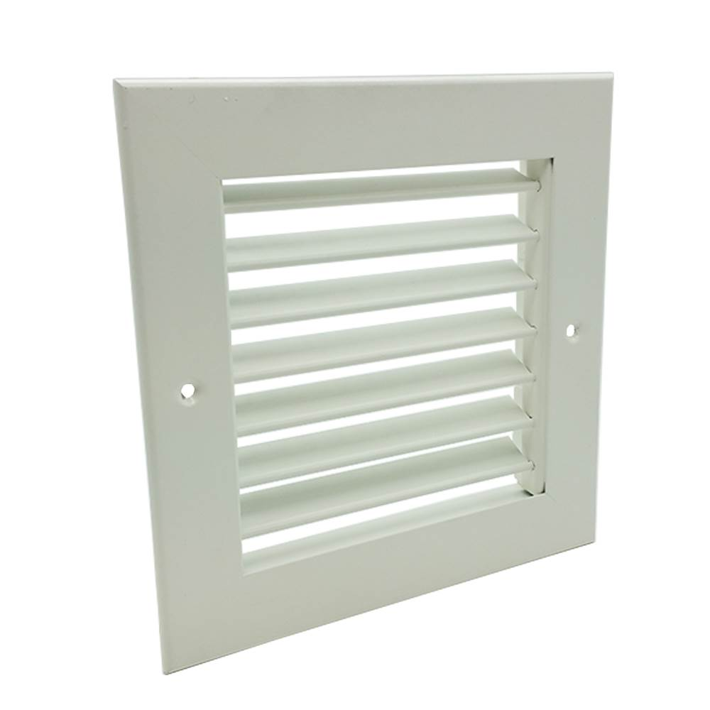 SINGLE DEFLECTION GRILLE - WHITE - 600X600MM