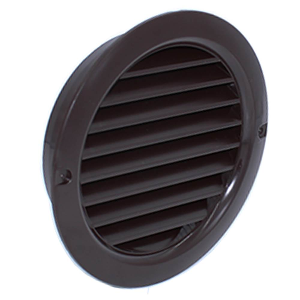 System 100 - Round Grille - Brown With Flyscreen
