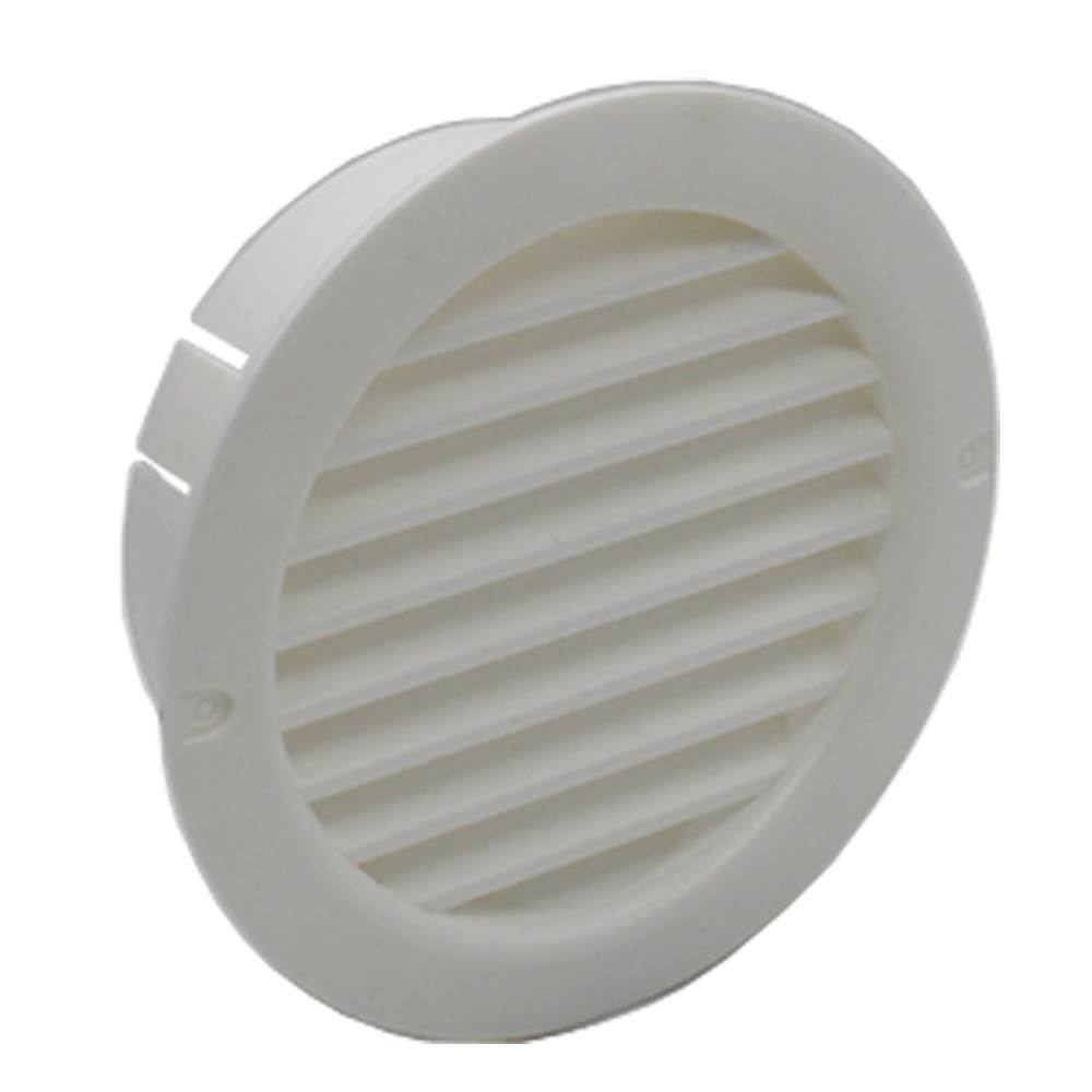 Kair System 100 Round Grille With Fly Screen - White