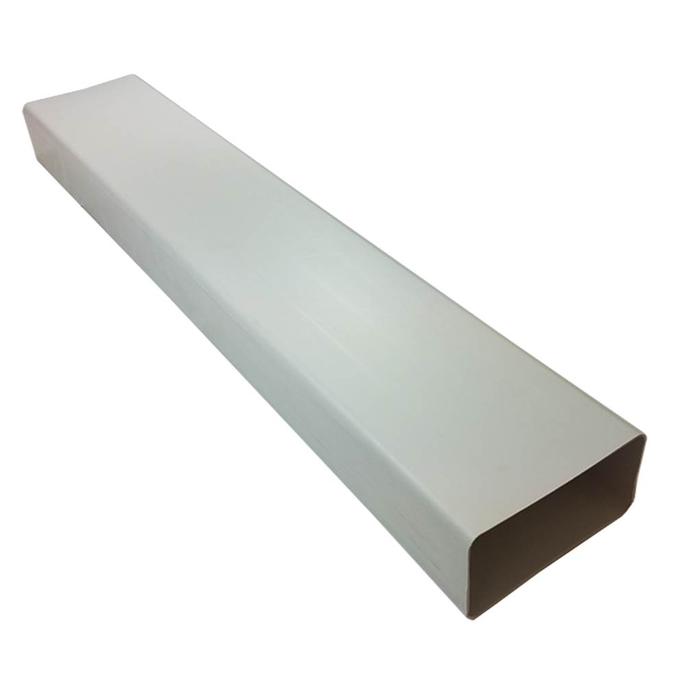Kair Rectangular Flat Ducting 180mm x 90mm - 1 Metre Length Flat Channel Pipe