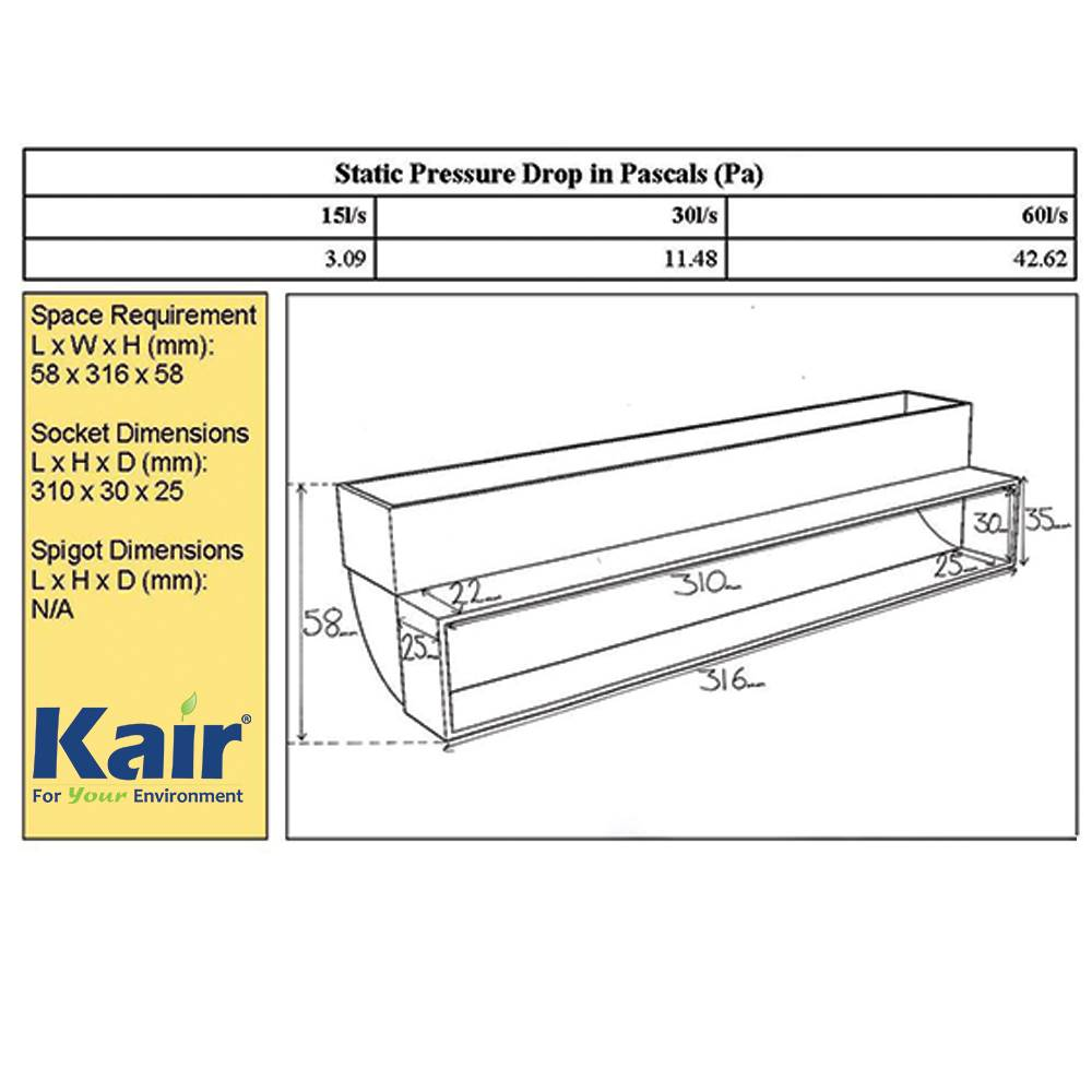 kair system degree vertical bend flat duct deg vertical system 300 90 degree vertical bend