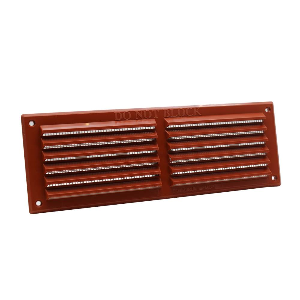 RYTONS 9X3 LOUVRE VENTI GRILLE WITH FLYSCREEN - TERRACOTTA