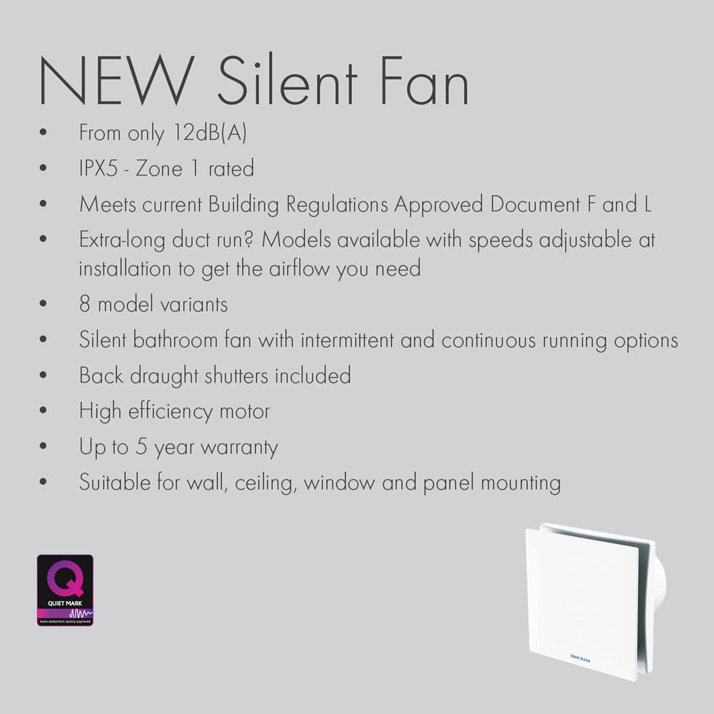 Vent Axia VASF100HT 100mm Axial Bathroom Extract Fan