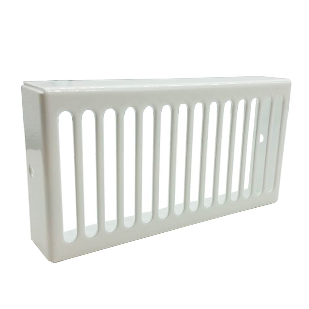WHITE METAL GRILLE  PLATE FOR SPIGOT AND DUCTING