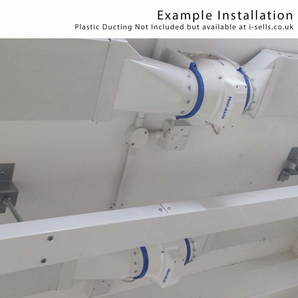 Inline Bathroom Exhaust Fan Reviews: VENTAXIA ACM200 Mixed Flow Inline Duct Fan