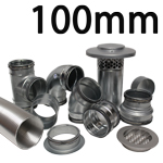Metal Ducting - 100mm Round System