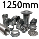 Metal Ducting - 1250mm Round System