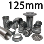 Metal Ducting - 125mm Round System