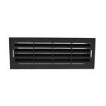 Airbrick Grille With Surround - VKC703, 753, 247 - Black