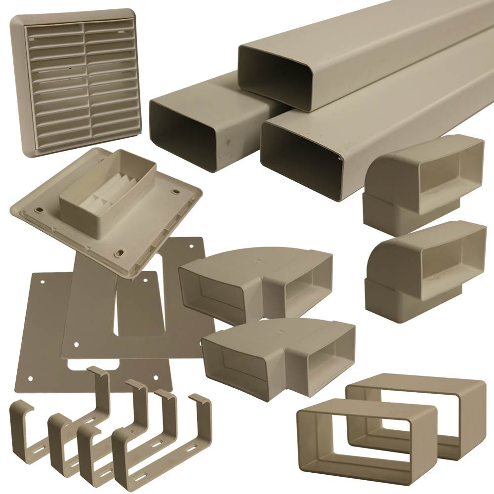 Kair 110mm x 54mm Flat Ducting Kit For Use With Positive Pressure Units