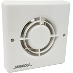 Manrose XF100HP Wall/Ceiling Fan - Humidity - 100mm