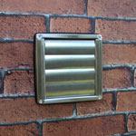 Kair 100mm Wall Outlet - Gravity Grille Stainless Steel Ducting Vent