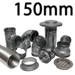 Metal Ducting - 150mm Round System
