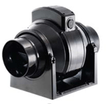 MANROSE MF100T 100MM INLINE DUCT FAN WITH TIMER - TWO SPEED - HIGH PERFORMANCE