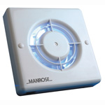 Manrose XF100T Wall/Ceiling Fan - Timer - 100mm