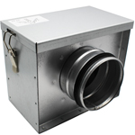 250mm Metal Ducting Filter Box with Filter Mesh